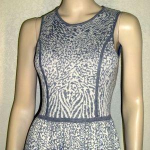 Kensie Dresses NWT Zebra Jacquard Metallic Dress